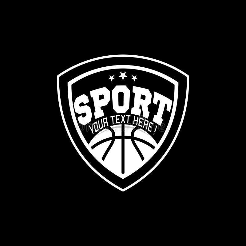 Inspiração de Logo Basketball do esporte de E ilustração stock