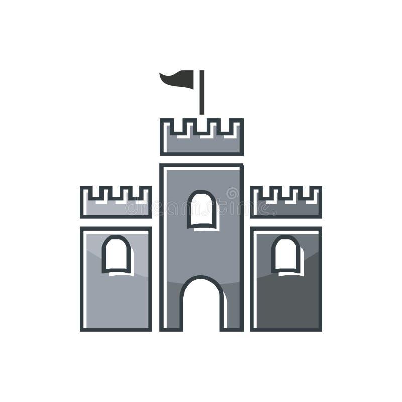 Inspiração do projeto do logotipo do castelo ilustração royalty free