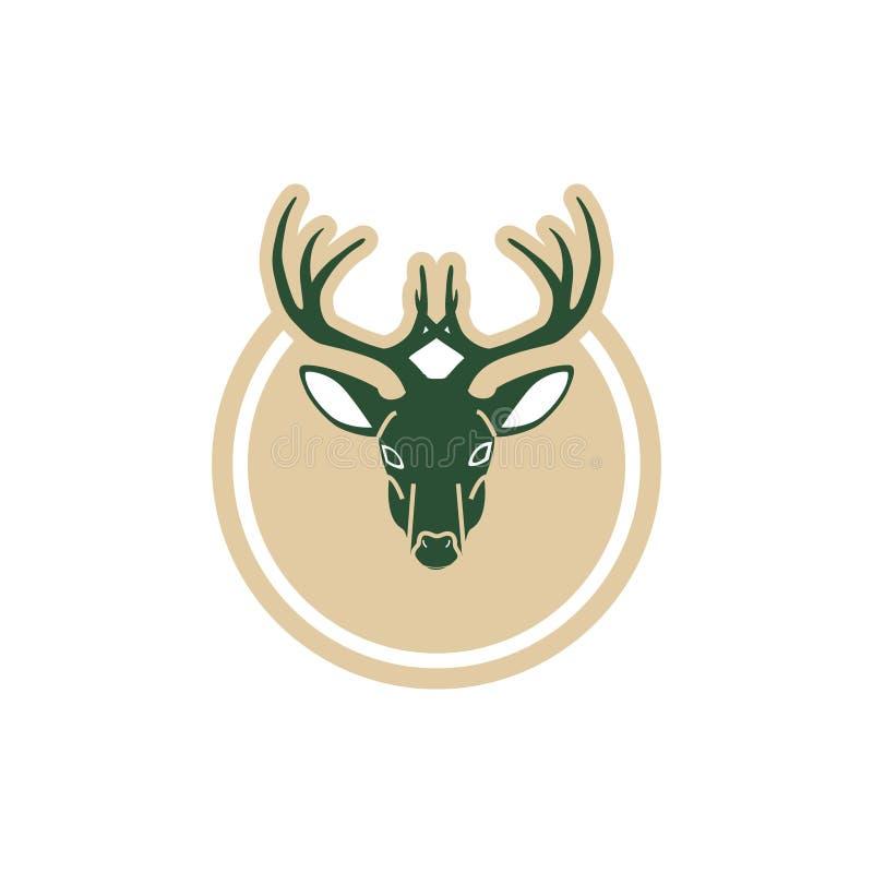 Inspiração do projeto do logotipo dos cervos do negócio ilustração do vetor