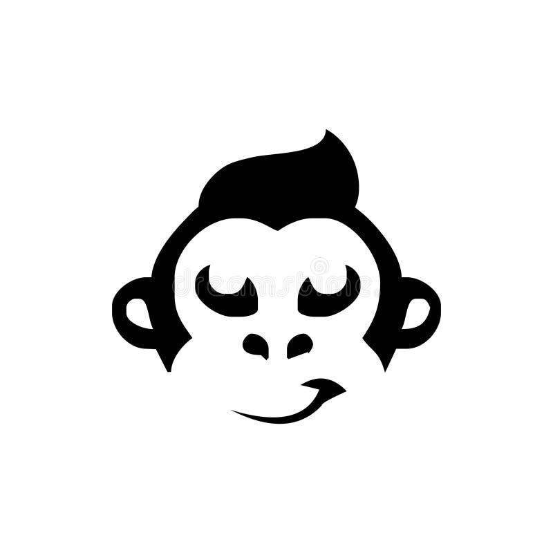 Inspiração do projeto do logotipo do macaco ilustração do vetor