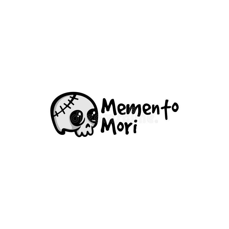 Inspiração do projeto do logotipo do vetor do crânio Memento mori projeto do logotipo ilustração royalty free
