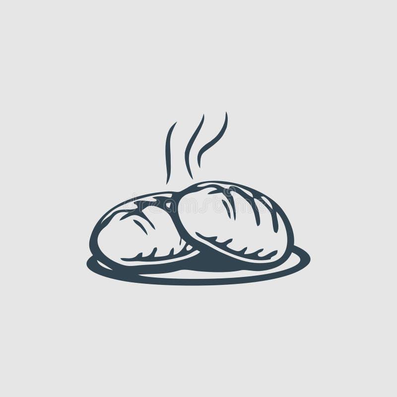 Inspiração quente do logotipo do projeto do monograma da padaria ilustração do vetor
