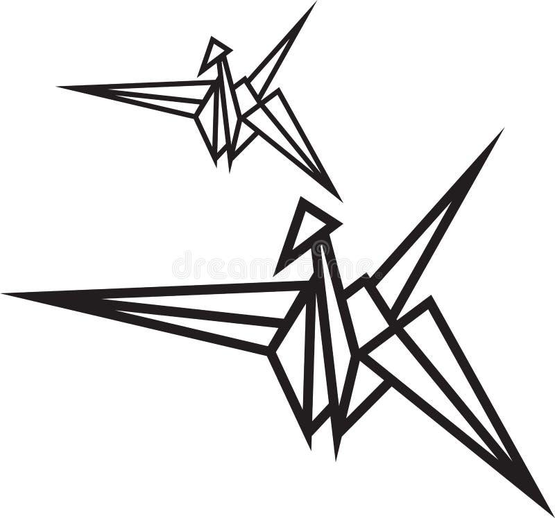 Inspira??o geom?trica abstrata do projeto do logotipo do ?cone do p?ssaro e da coroa para o corte do laser ilustração do vetor