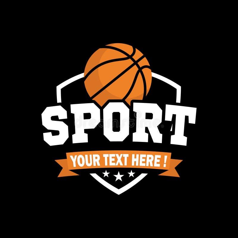 Inspiración de Logo Basketball del deporte de E stock de ilustración