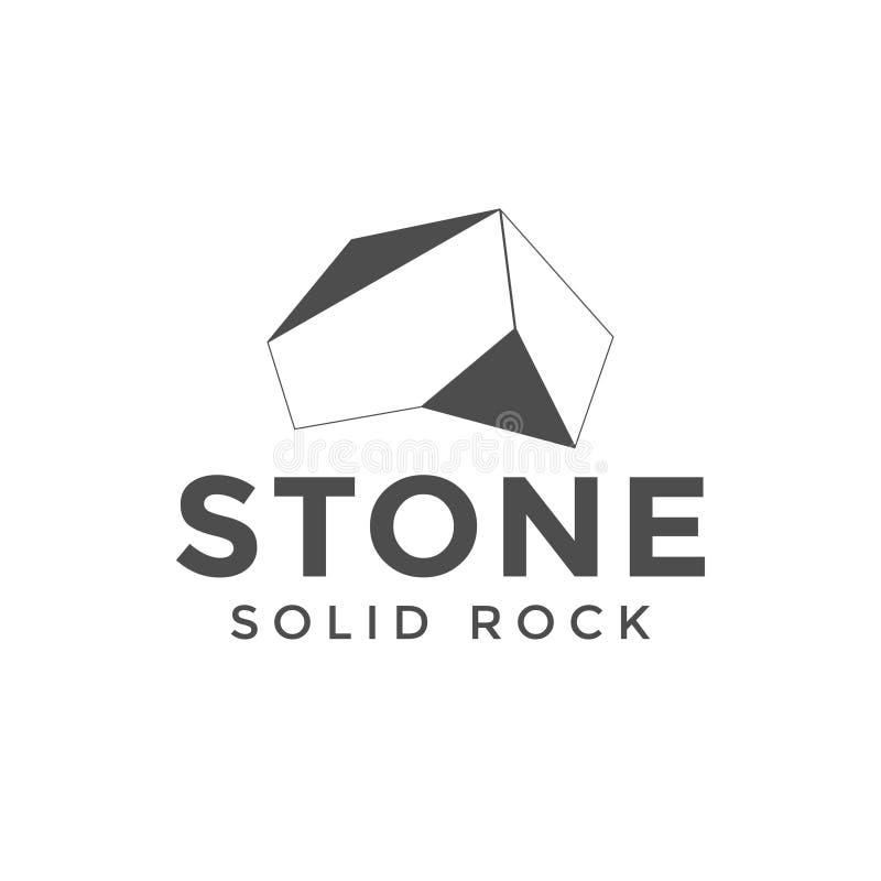 Inspiración de piedra del diseño del logotipo stock de ilustración