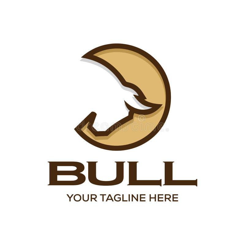 Inspiración del diseño de la plantilla del logotipo de Bull libre illustration