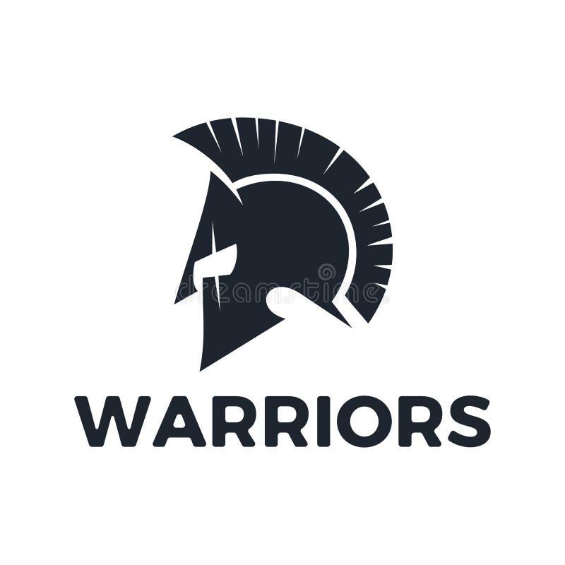 Inspiración del diseño del logotipo del vector de los guerreros stock de ilustración