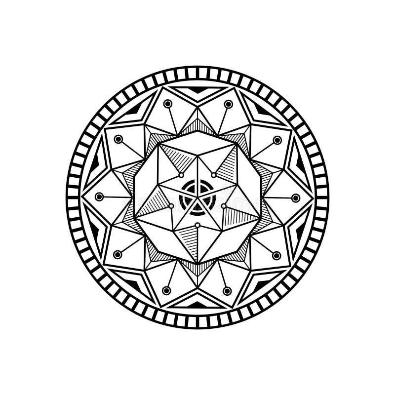 Inspiración del diseño del loto de la mandala stock de ilustración