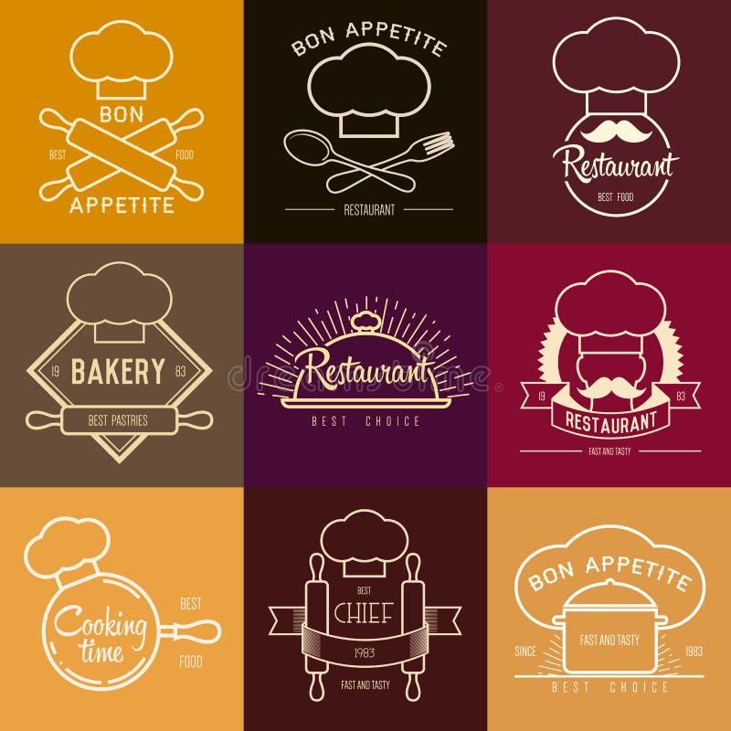 Inspiración del logotipo para el restaurante o el café Vector el ejemplo, elementos gráficos editable para el diseño ilustración del vector