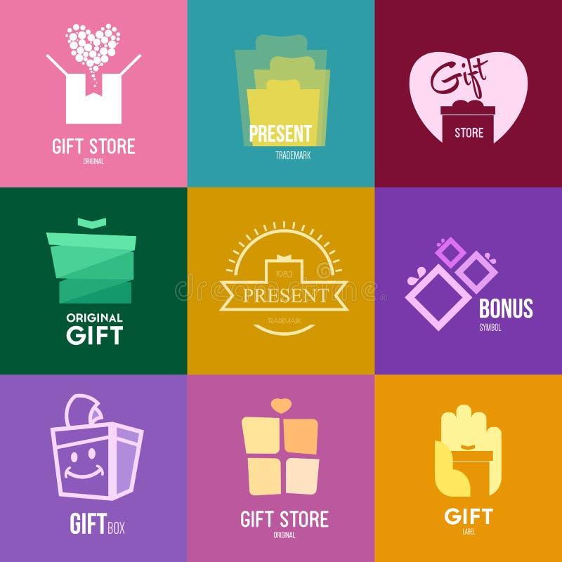 Inspiración del logotipo para las tiendas, las compañías, la publicidad o el otro sector stock de ilustración