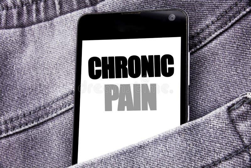 Inspiración del subtítulo del texto de la escritura de la mano que muestra dolor crónico Concepto del negocio para sentirse mal e fotografía de archivo