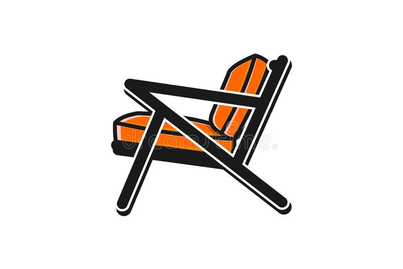 Inspiración minimalista del diseño del logotipo de la silla stock de ilustración