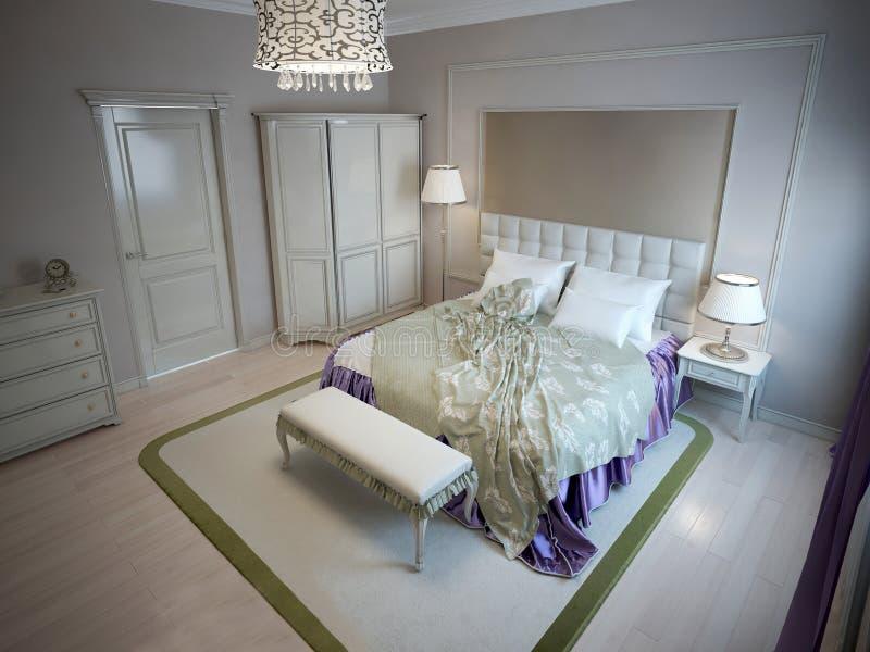 Inspiración para el dormitorio del hotel de lujo libre illustration