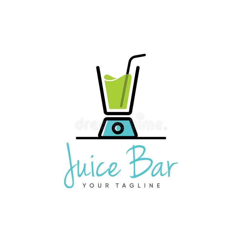 Inspiración sana del diseño del logotipo de Juice Bar stock de ilustración