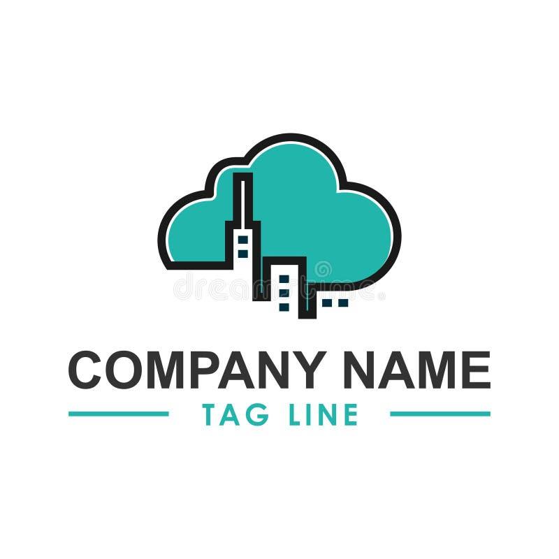 Inspiracja logo w chmurze nieruchomości zdjęcie stock
