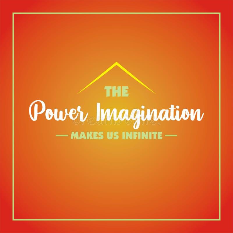 Inspiracyjna wycena Władzy wyobraźnia robi my nieskończeni royalty ilustracja