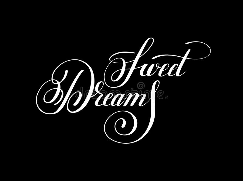 Inspirat manuscrit de positif d'inscription de lettrage de rêves doux illustration de vecteur