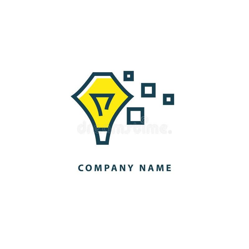Inspiratie, creatief agentschap, innovatie, elektrische energie, ontwerper, opleiding, het pictogram van het onderwijsweb Idee mi vector illustratie