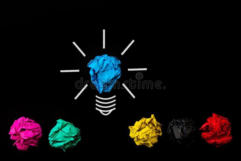 Inspiratie en groot ideeconcept stock afbeeldingen