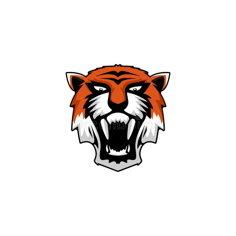 Inspiraties van het tijger de dierlijke embleem, het wild royalty-vrije illustratie