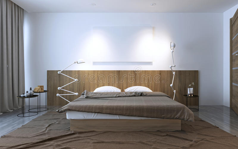Inspiration  La Chambre  Coucher Contemporaine Illustration Stock