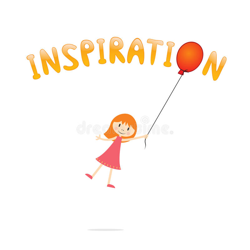 Download Inspiration stock vector. Image of nice, child, inscription - 25104626