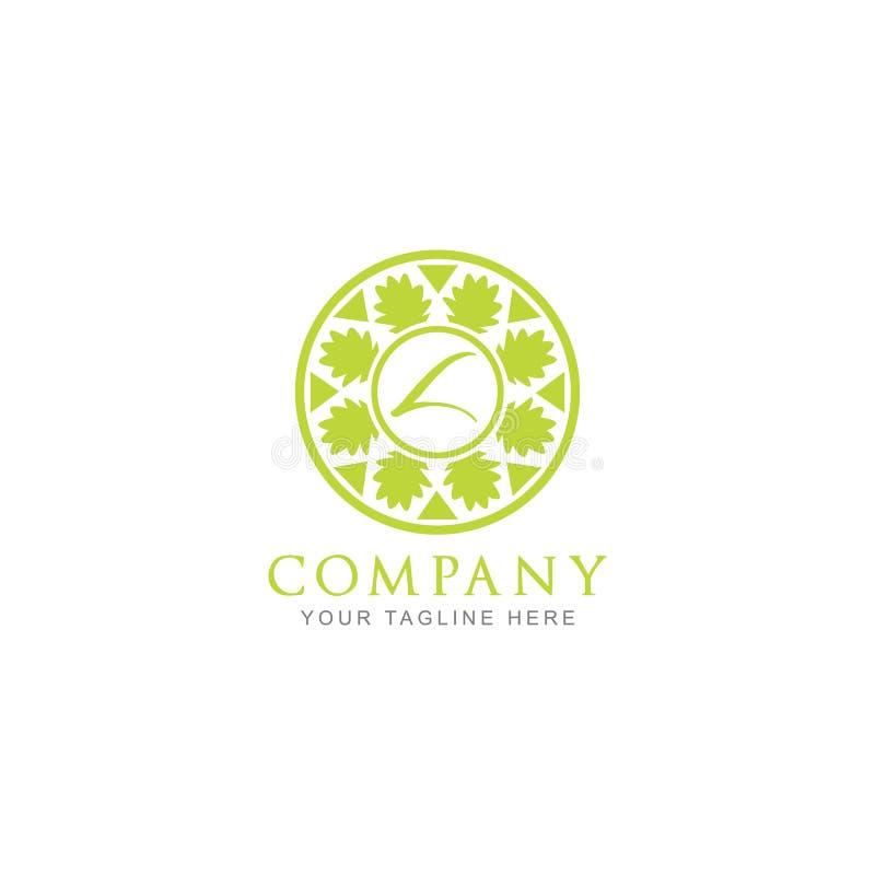 Inspiration abstraite de Logo Design avec L initial illustration de vecteur