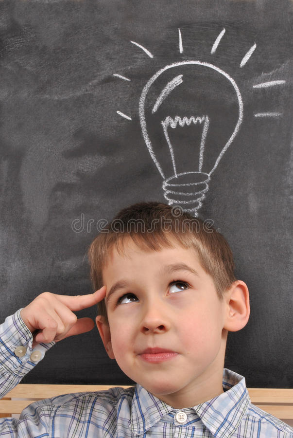 Download Inspiration By The Blackboard Stock Image - Image of think, thinking: 24202647