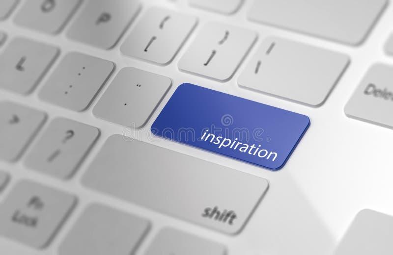 Inspiration - bouton sur le clavier illustration stock
