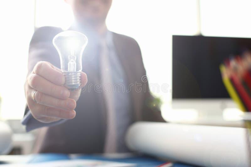 Inspiration Brand New Idea Symbol Saving Energy stock photo