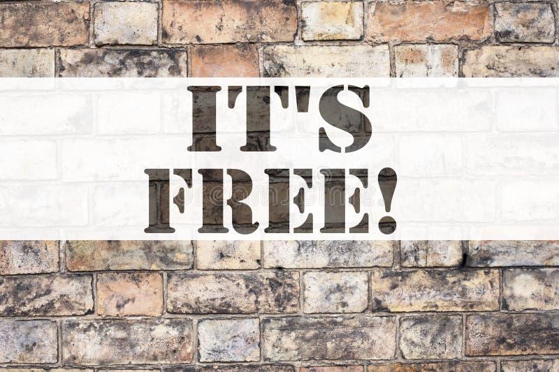 Inspiration conceptuelle de légende des textes d'annonce lui montrant le ` s ici Concept d'affaires pour des choses Free écrites  illustration libre de droits