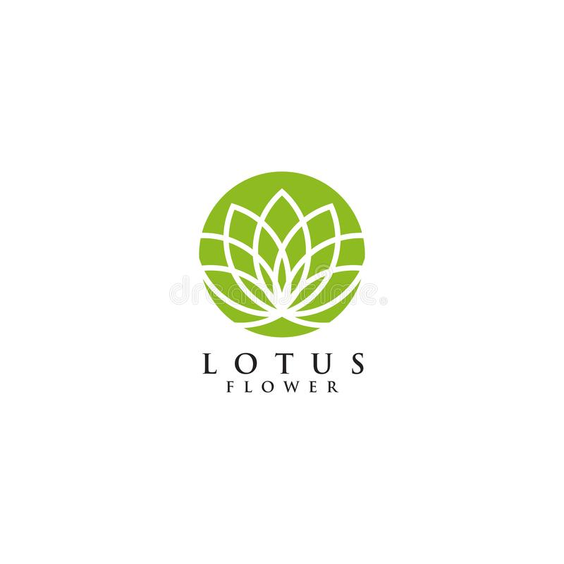 Inspiration de conception de logo de Lotus Flower illustration stock