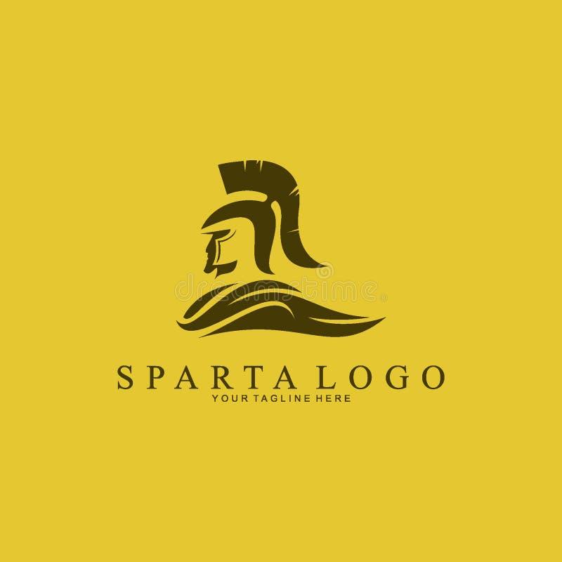 Inspiration de conception de logo de Sparte de silhouette illustration de vecteur