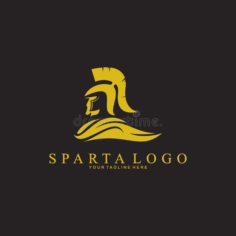 Inspiration de conception de logo de Sparte de silhouette illustration libre de droits