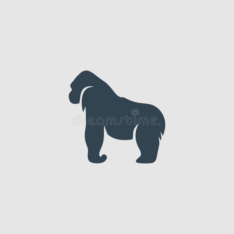 Inspiration de logo de conception de monogramme de gorille illustration de vecteur