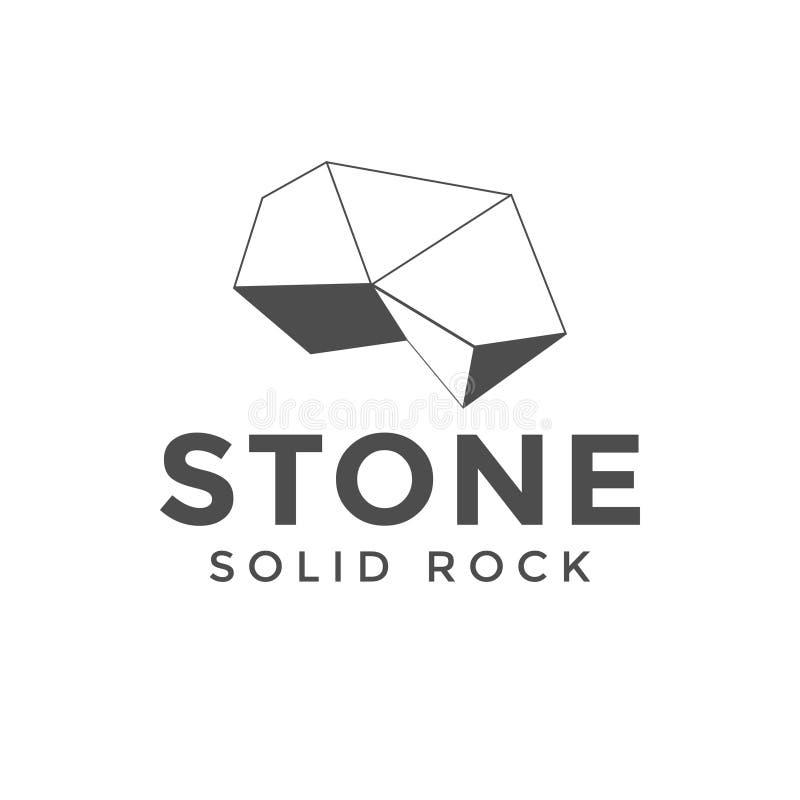 Inspiration en pierre de conception de logo illustration libre de droits