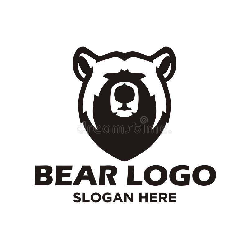 Inspiration eps för björnlogodesign royaltyfri illustrationer