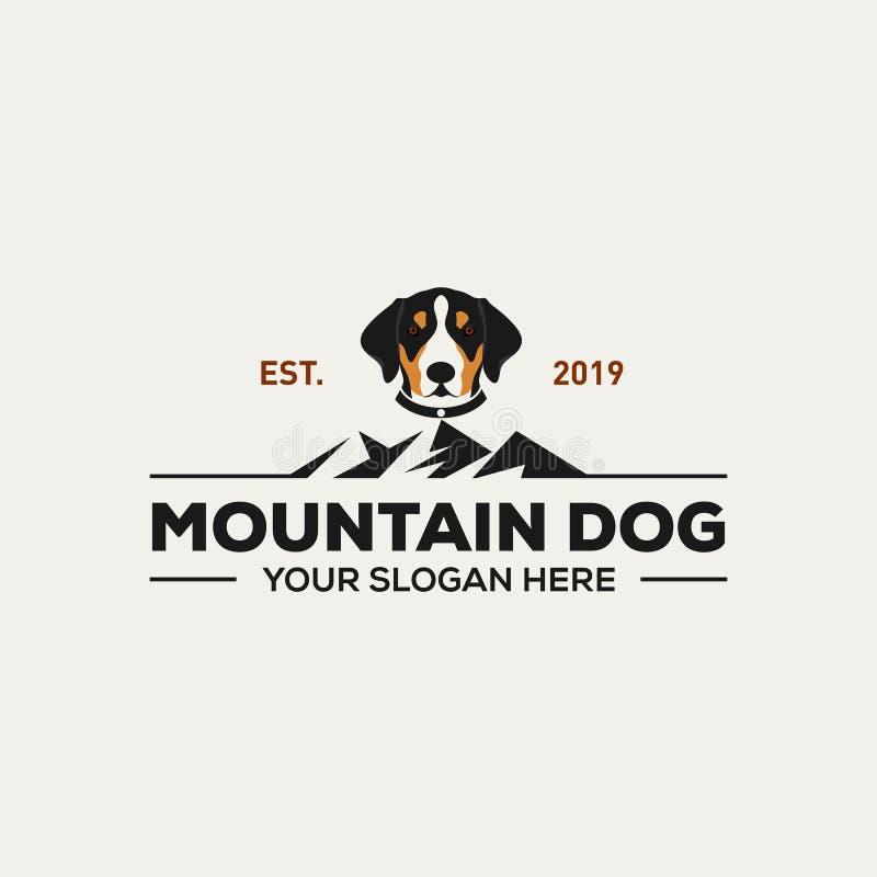Inspiration för design för berghundlogo vektor illustrationer