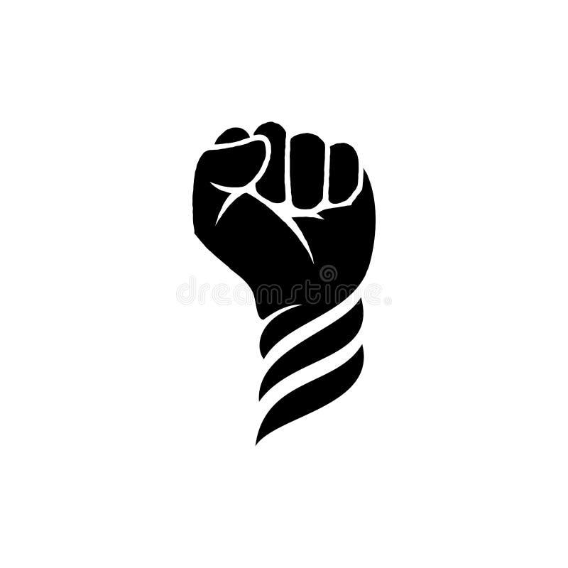 Inspiration för design för handnävelogo - rebellisk logodesigninspiration stock illustrationer