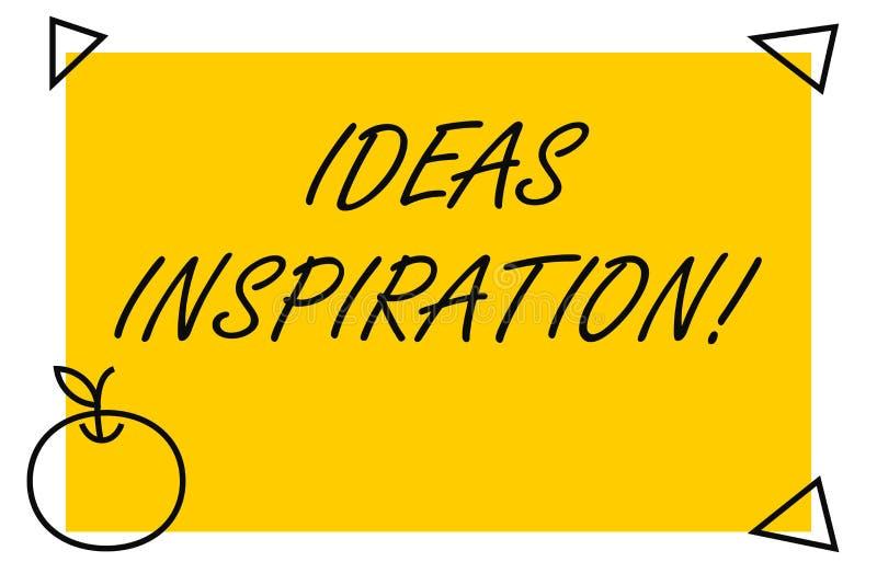 Inspiration för handskrifttextidéer Begrepp som betyder känsla av entusiasm dig för att få från någon eller något som isoleras vektor illustrationer