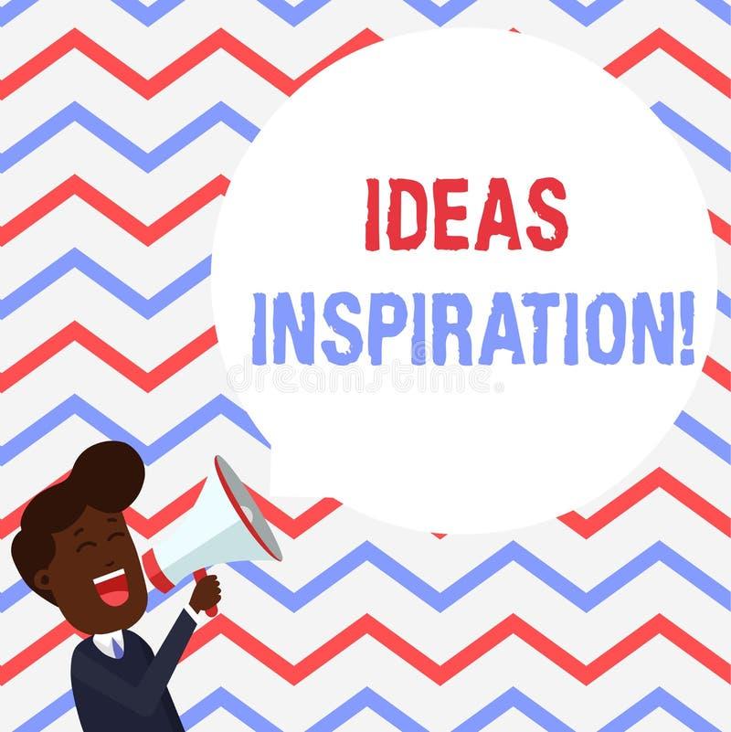 Inspiration för handskrifttextidéer Begrepp som betyder känsla av entusiasm dig för att få från någon eller något ung man royaltyfri illustrationer