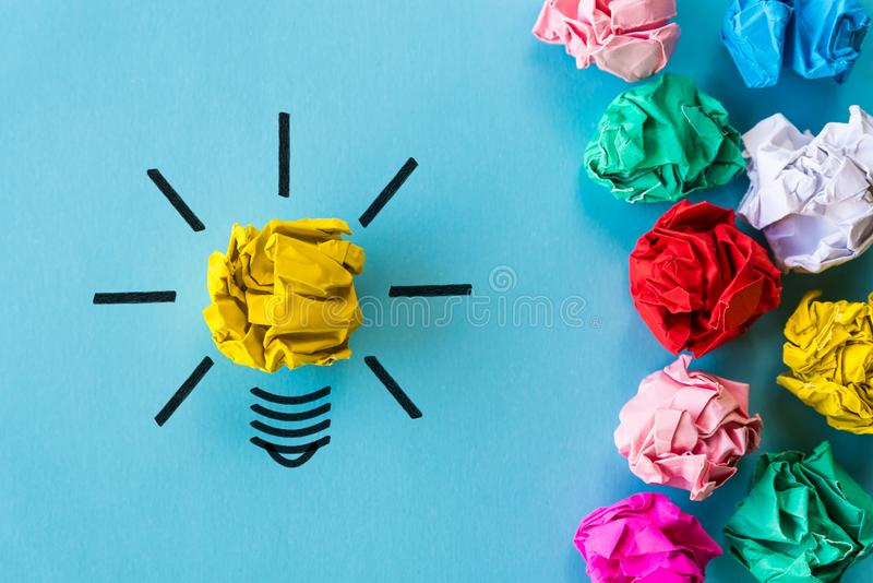 Inspiration and great idea concept. royalty free stock photo