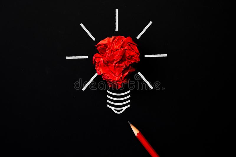 Inspiration and great idea concept. light bulb stock photography