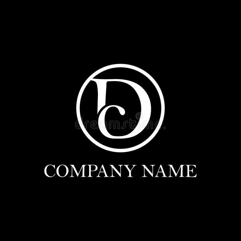 Inspiration initiale de conception de logo de C.C illustration de vecteur