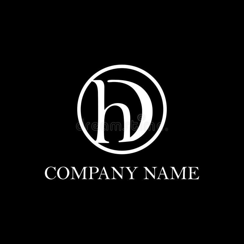 Inspiration initiale de conception de logo de CAD illustration libre de droits