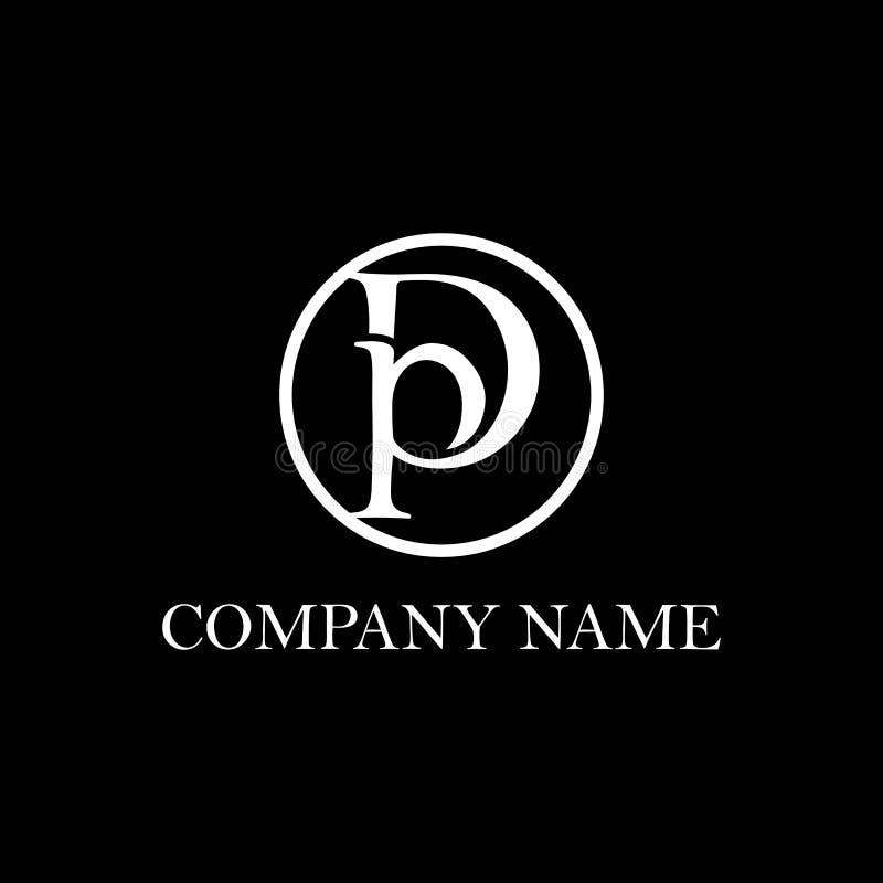 Inspiration initiale de conception de logo de DP illustration stock