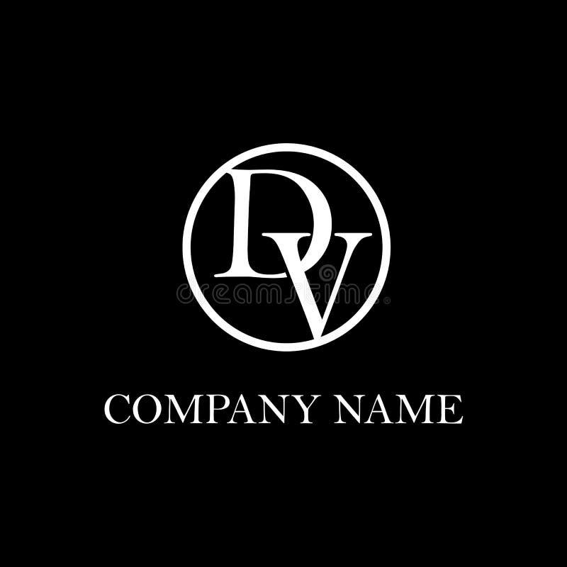 Inspiration initiale de conception de logo de DV illustration de vecteur