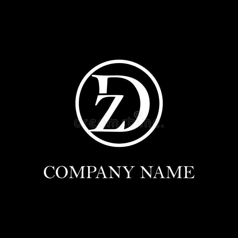 Inspiration initiale de conception de logo de la DZ illustration de vecteur