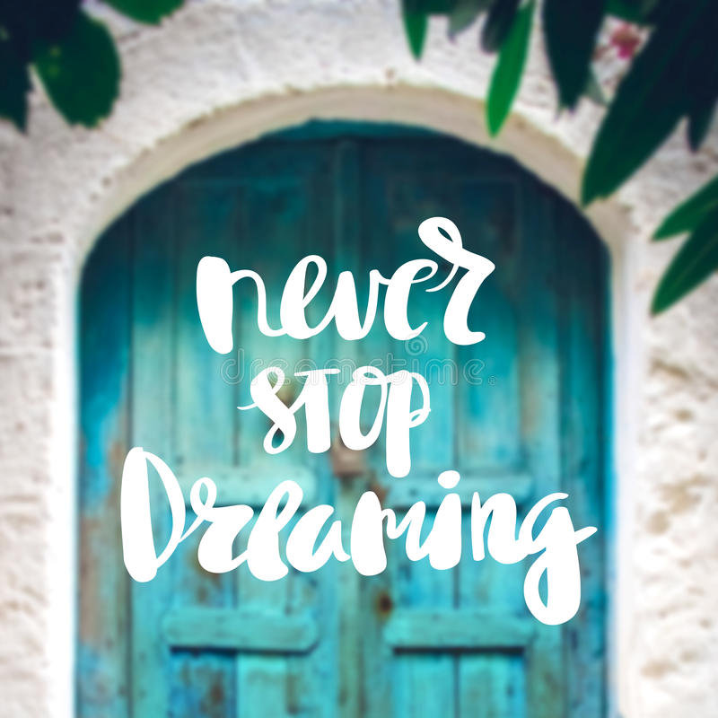 Inspiration and motivation quotes stock photos