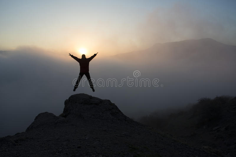 Inspiration in mountains royalty free stock photography